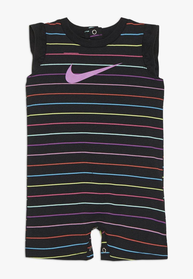 Nike Sportswear - RETRO STRIPE ROMPER BABY - Jumpsuit - black/fire pink
