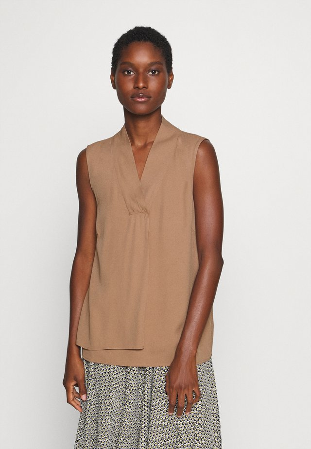 BLOUSE NON SLEEVE - Camicetta - brown