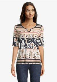Betty Barclay - Print T-shirt - dark blue-rosé - 0