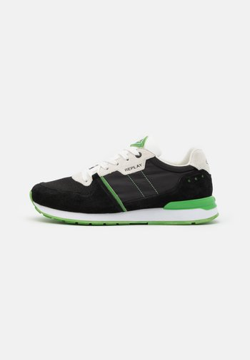 CLASSIC WEST - Sneakers - black/white/green