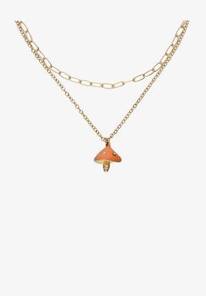 MIT PILZ UND STRASSSTEINEN - Necklace - goldfarben