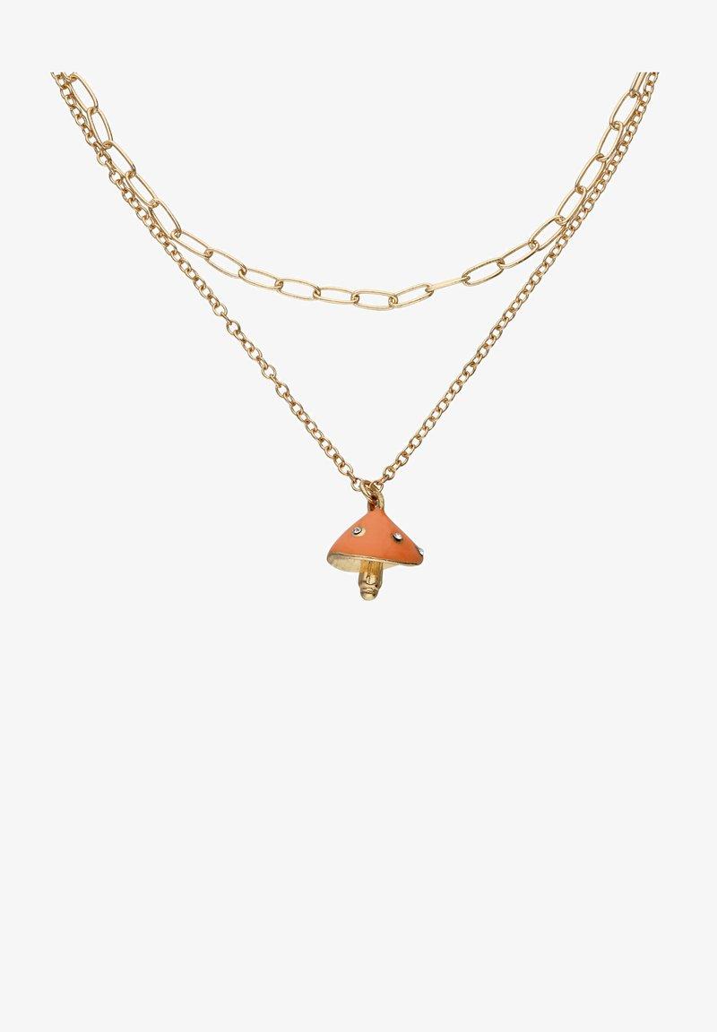 Six - MIT PILZ UND STRASSSTEINEN - Necklace - goldfarben