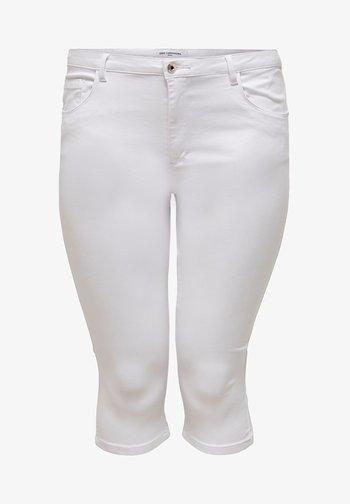 CURVY CARAUGUSTA LIFE  - Denim shorts - white