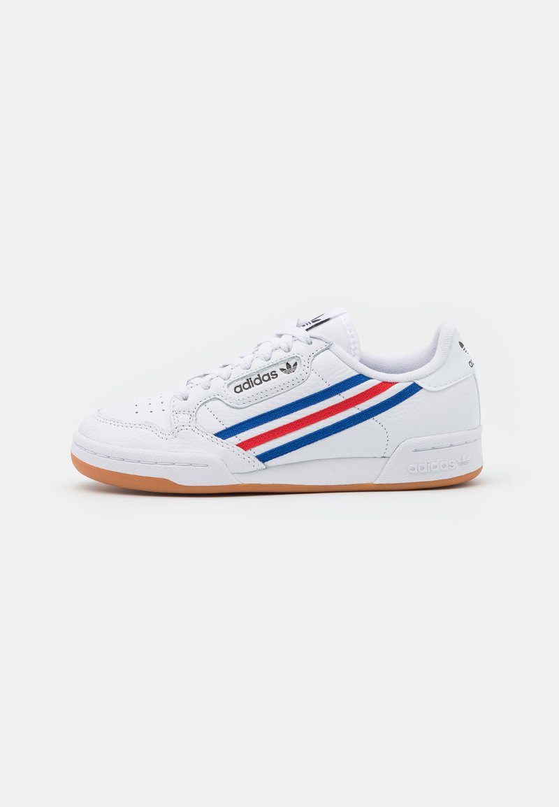 adidas Originals - CONTINENTAL 80 UNISEX - Trainers - footwear white/team royal blue/vivid red