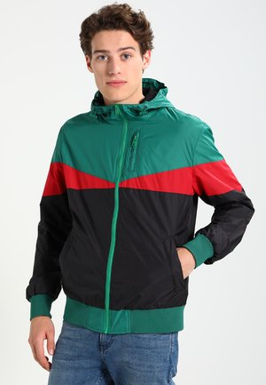 ARROW WINDBREAKER - Summer jacket - black/green/red