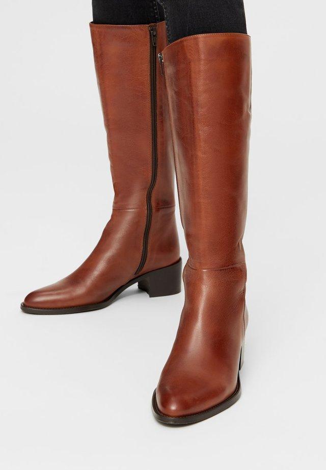 BIACAROL - Høje støvler/ Støvler - cognac
