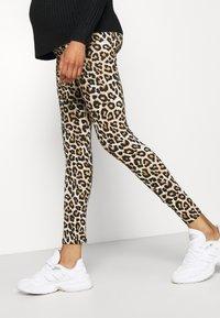 MAMALICIOUS - MLSANNIE 2 PACK - Leggings - Trousers - black - 4