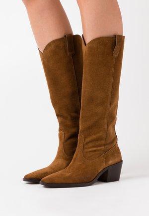 BESTERN - Cowboy/Biker boots - cognac