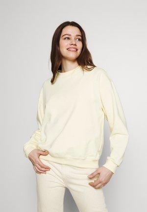 Sweatshirt - yellow dusty light solid