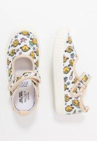 Walnut - CLASSIC - Ankle strap ballet pumps - white - 0