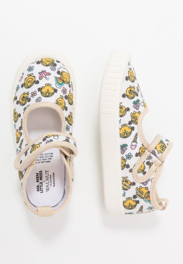 CLASSIC - Ankle strap ballet pumps - white