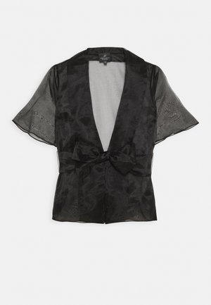 ORGANZA COVER UP - Chaqueta fina - black