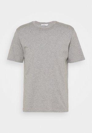 ROUND NECK  - Basic T-shirt - light grey melange