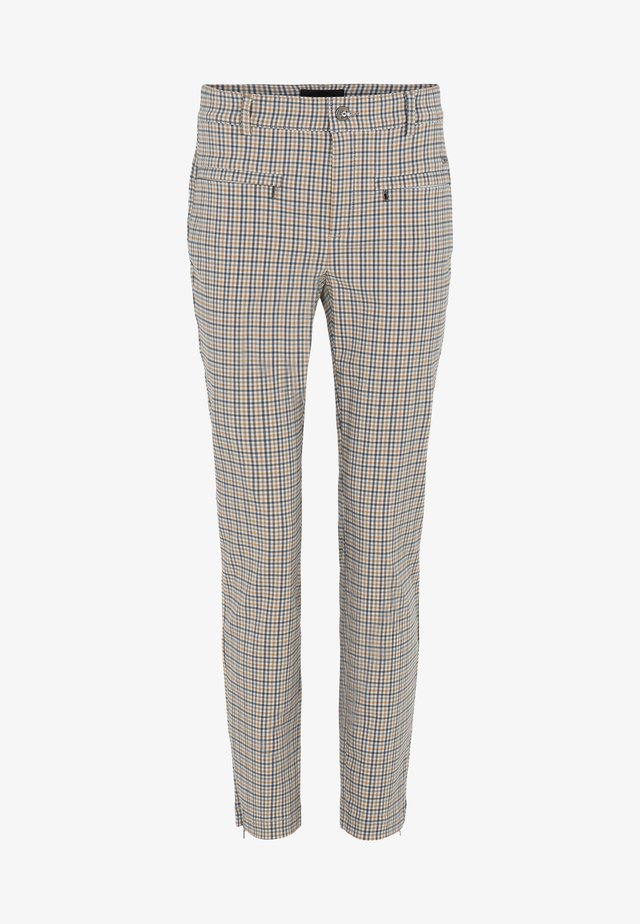 Trousers - beige check