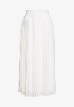 VIPLISSEA MIDI SKIRT - A-linjekjol - cloud dancer
