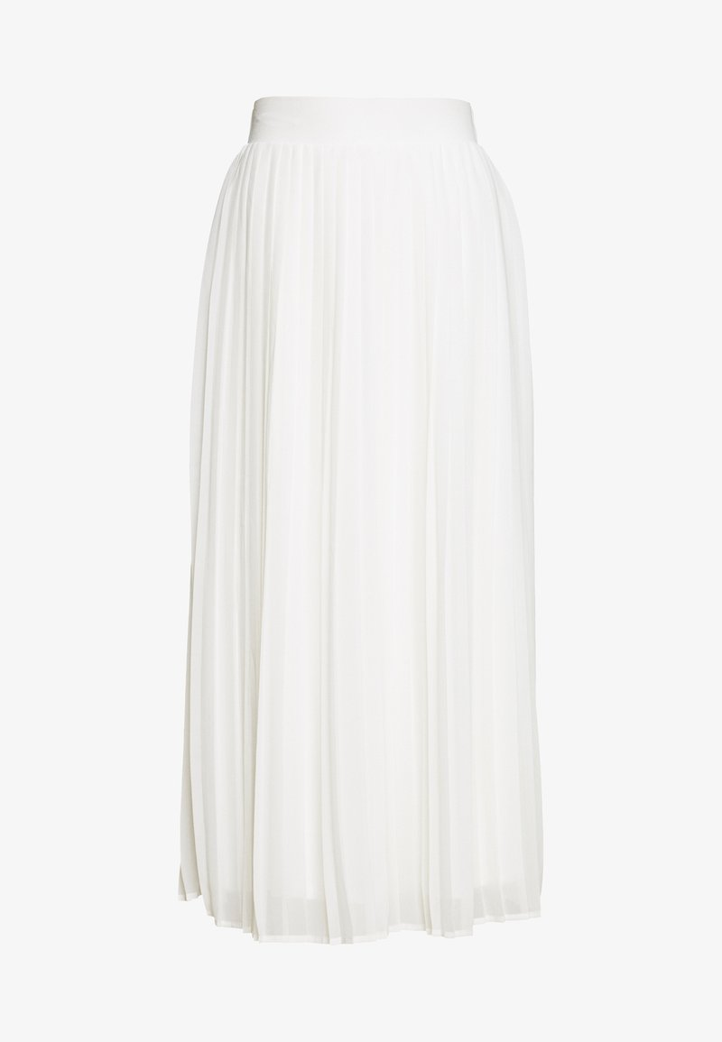 Vila - VIPLISSEA MIDI SKIRT - Áčková sukně - cloud dancer