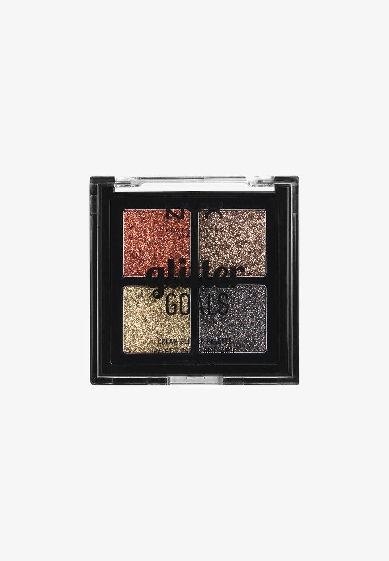 Nyx Professional Makeup - GLITTER GOALS CREAM QUAD PALETTE - Eyeshadow palette - 2 galactica