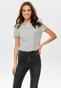 ONLY - Print T-shirt - light grey - 0