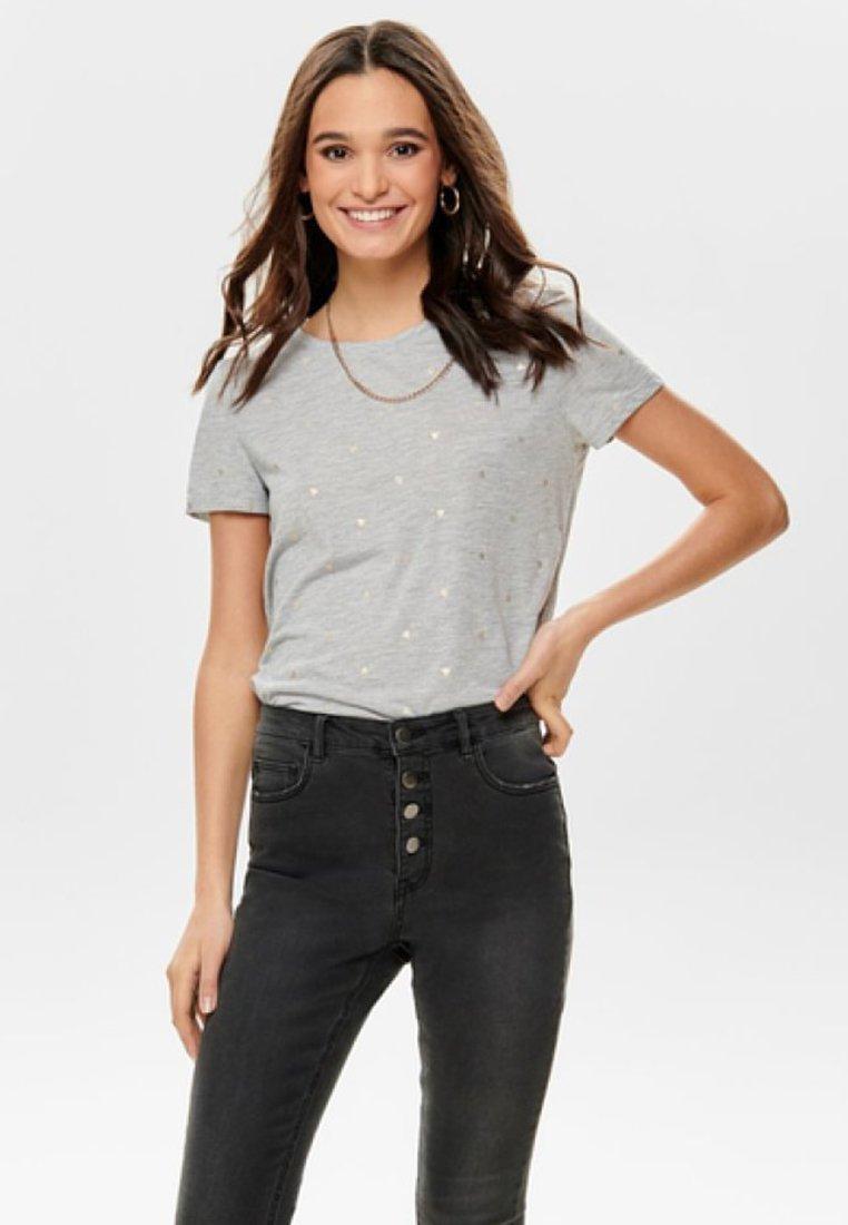 ONLY - Print T-shirt - light grey