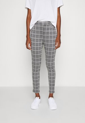 Checked Leggings - Leggings - Trousers - black/white
