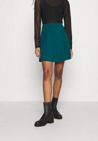 Even&Odd - A-line skirt - teal - 0
