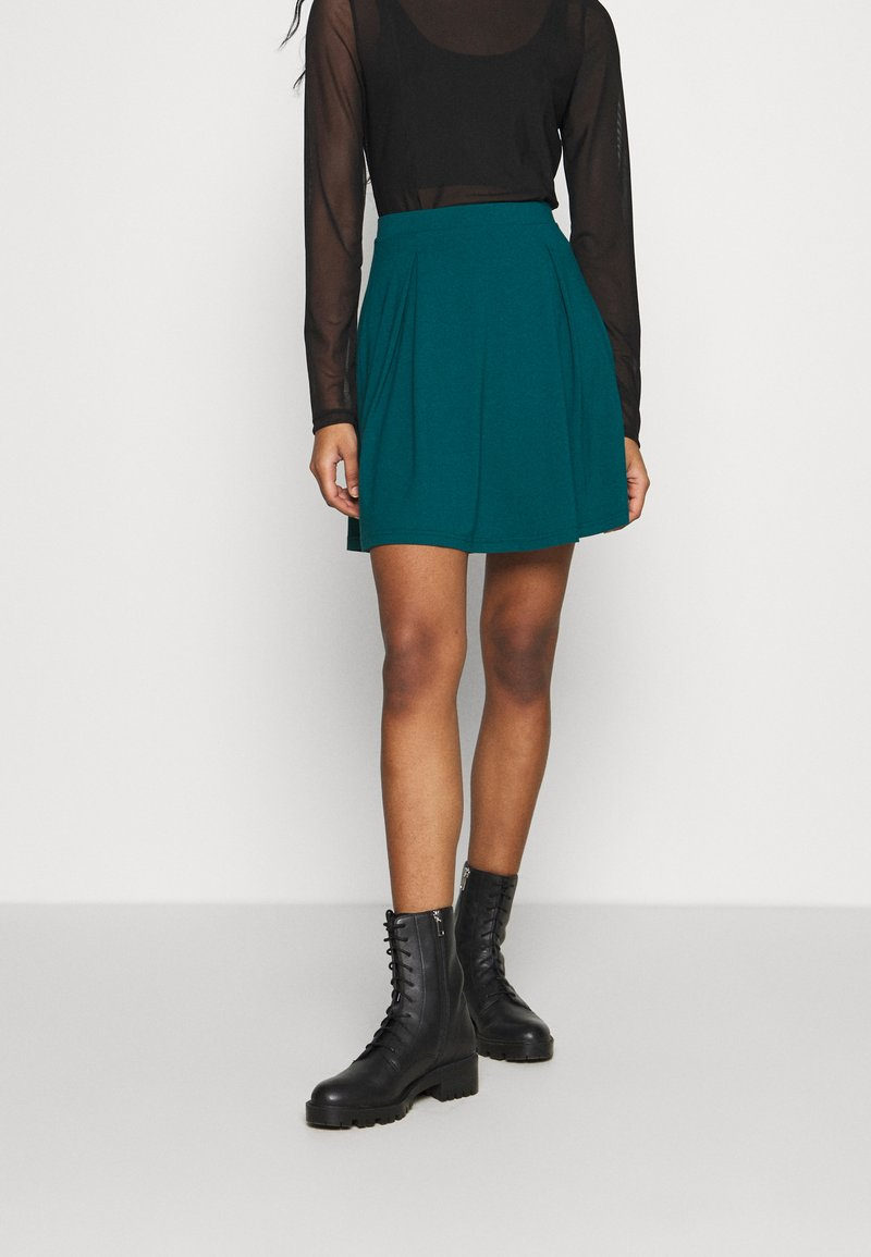 Even&Odd - A-line skirt - teal