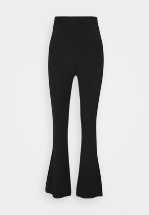 FLARED LEG LEGGINGS - Leggings - Trousers - black