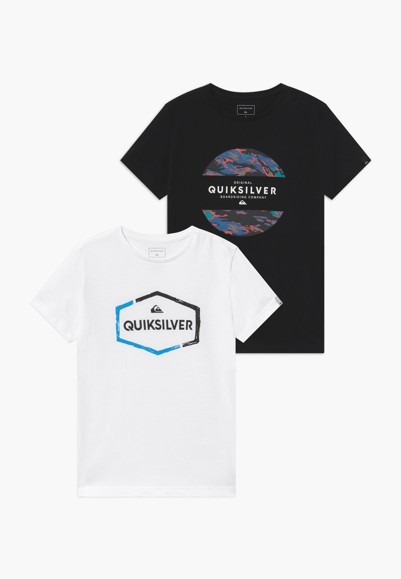 Quiksilver - NORWAY MIX FLAXTON 2 PACK - Print T-shirt - black/white