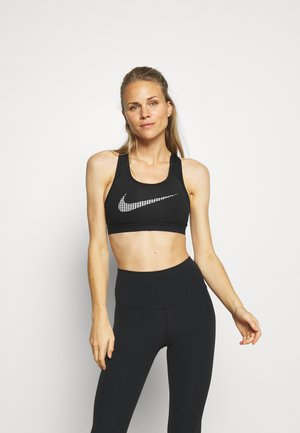 BRA - Medium support sports bra - black/white