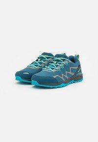 Hi-Tec - STINGER WP WOMENS - Hiking shoes - lake blue/light sapphire/yellow/silver - 1