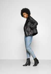 New Look - AVIATOR CHRISSY  - Faux leather jacket - black - 1