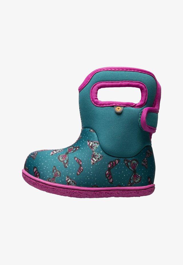 BUTTERFLIES - Snowboots  - teal multi