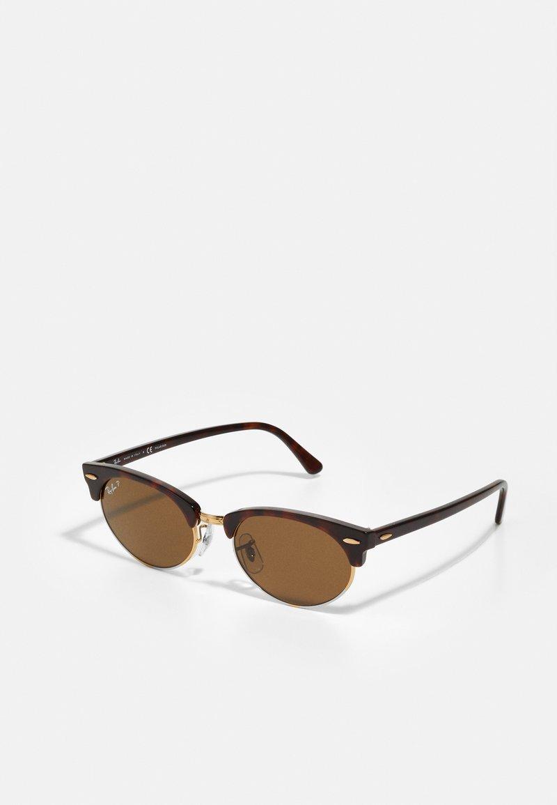 Ray-Ban - CLUBMASTER UNISEX - Sluneční brýle - mottled brown/brown
