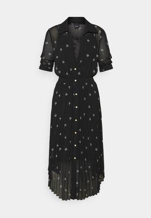 NOTO ABITO GEORGETTE RICAMO FIORE - Day dress - black