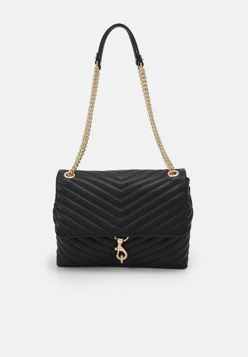 EDIE FLAP SHOULDER - Handbag - black