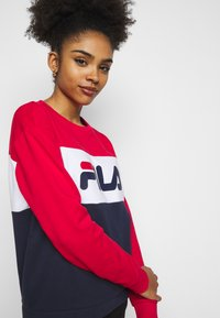 Fila Petite - LEAH CREW - Sweatshirts - black iris/true red/bright white - 5