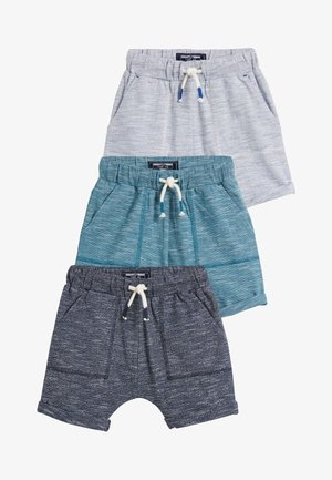 3 PACK LIGHTWEIGHT TEXTURED SHORTS - Short - blue
