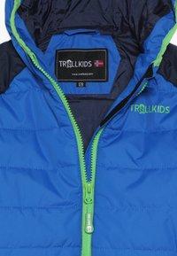 TrollKids - KIDS HAFJELL SNOW JACKET  - Laskettelutakki - navy/med blue/green - 4