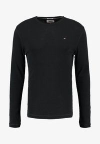 Tommy Jeans - ORIGINAL SLIM FIT - Long sleeved top - black - 4