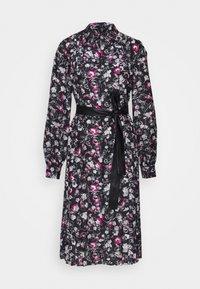 KARL LAGERFELD - ORCHID PRINT DRESS - Shirt dress - black - 0