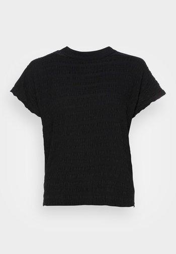 KANIYE STRUCTURE - Jednoduché triko - black