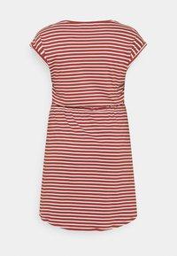 ONLY Carmakoma - CARAPRIL KNEE DRESS STRIPE - Jersey dress - apple butter/cloud dancer - 1