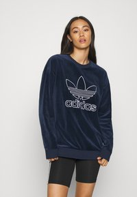 adidas Originals - CREW SPORTS INSPIRED  - Sweatshirt - collegiate navy/white - 0