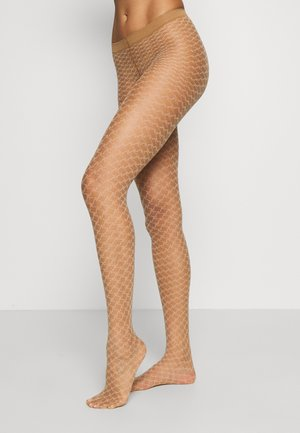 FALKE OLD-FASHIONED 15 DENIER STRUMPFHOSE TRANSPARENT FEIN - Tights - powder