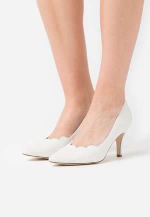 LEATHER - Tacones - white