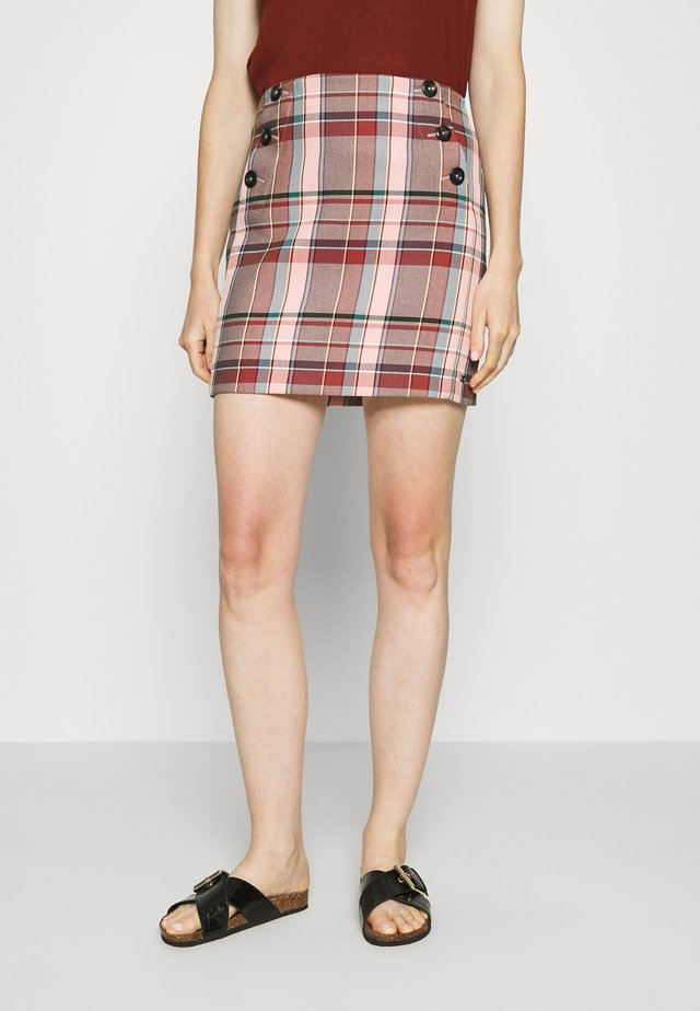 BLEND CHECK MINI SKIRT - Spódnica mini - multi-coloured