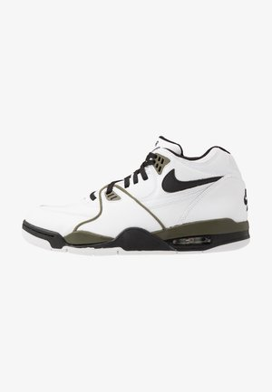 AIR FLIGHT 89 - Sneakersy wysokie - white/black/medium olive