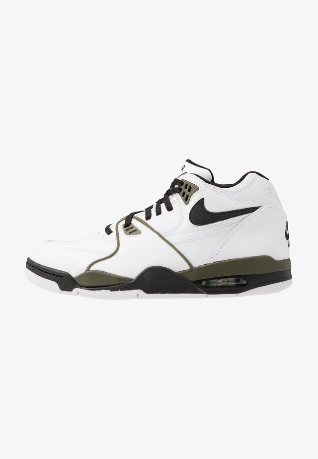 AIR FLIGHT 89 - Korkeavartiset tennarit - white/black/medium olive