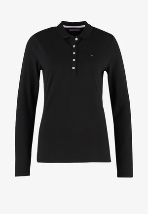 LONG SLEEVE SLIM - Polo shirt - black