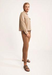 comma casual identity - Button-down blouse - dark beige - 1